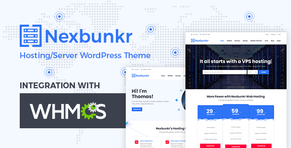 Nexbunker – Hosting/Server WordPress Theme