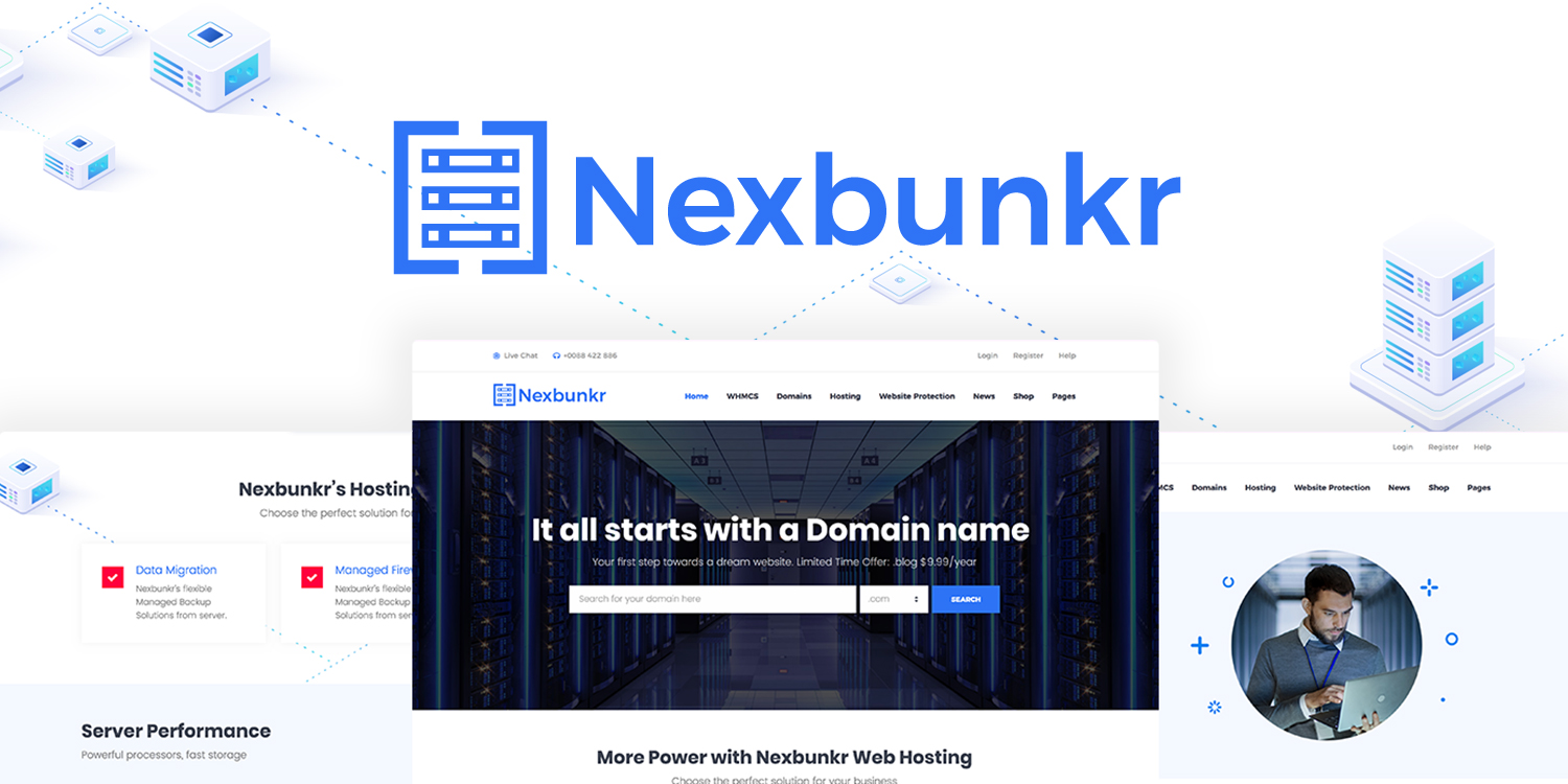 Nexbunker - The best Hosting WordPress Theme
