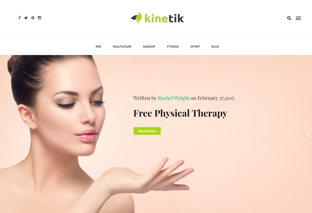 Kinetik – Spa & Wellness Blog Theme