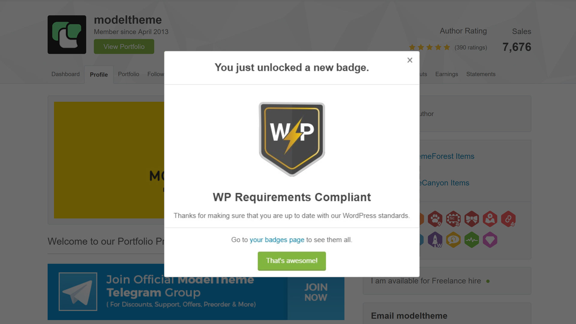envato wp compliant badge