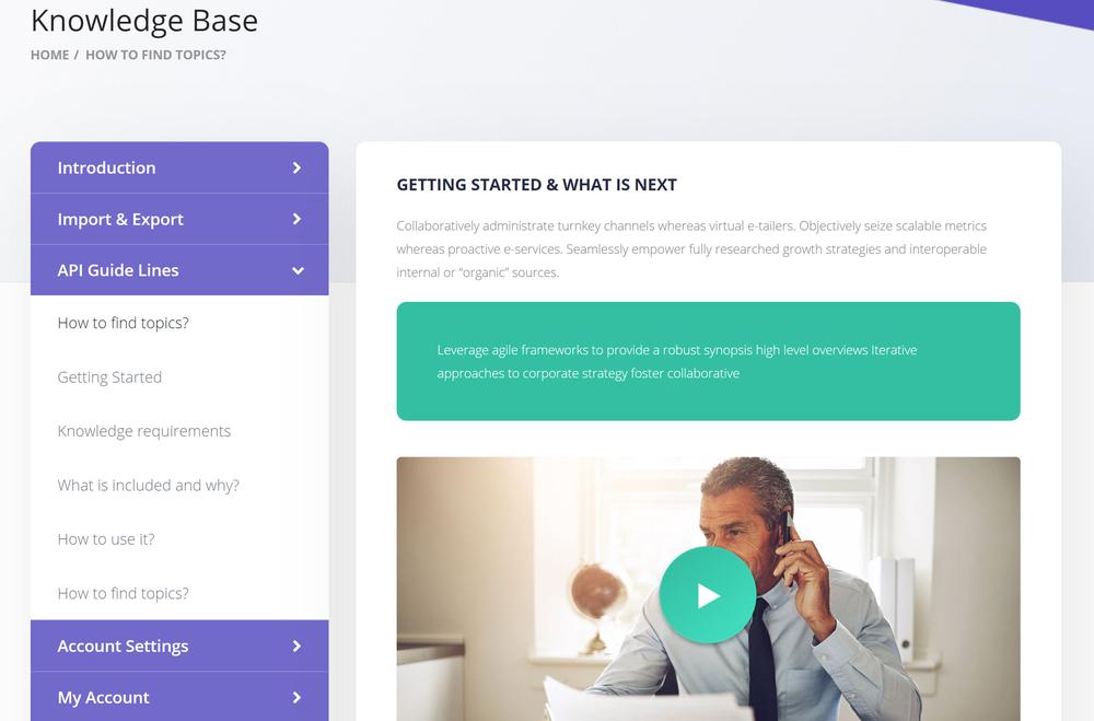 knowledgebase wordpress theme
