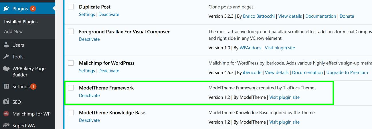 modeltheme framework