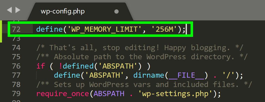 memory-limit-wordpress