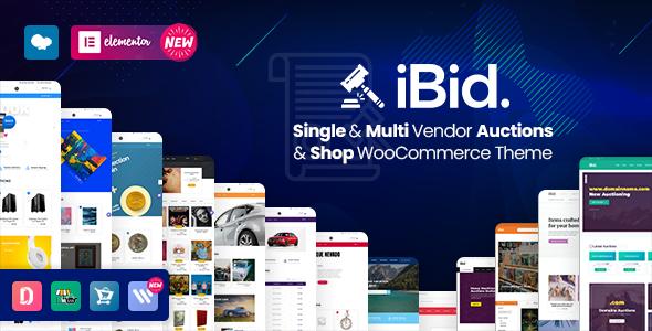 iBid – Multi-Vendor WordPress Auction Theme