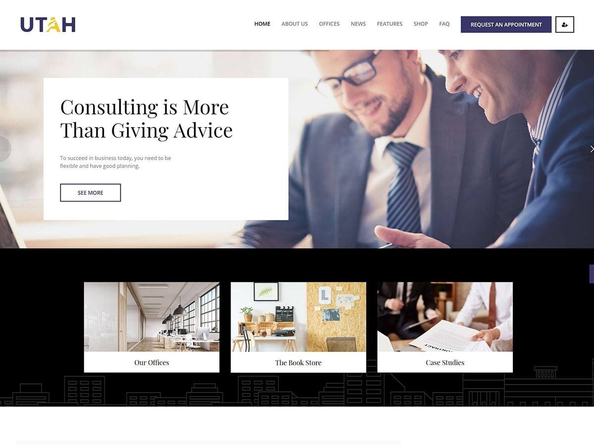 Utah – Educational Consultant WordPress Theme