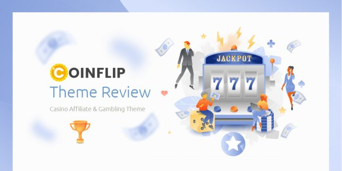 Coinflip Theme Review – Casino Affiliate & Gambling WordPress Theme