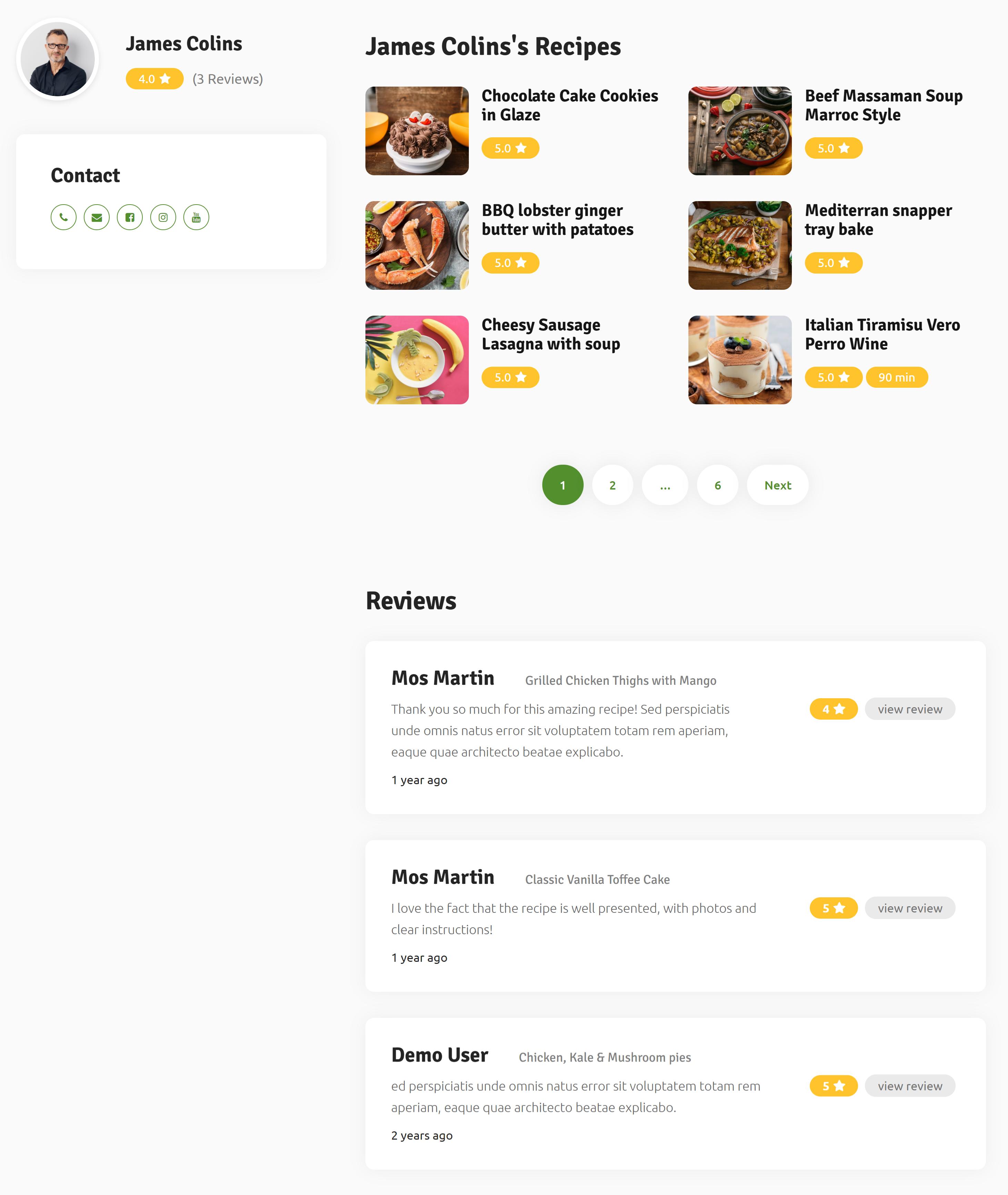 foodhub-user-profile