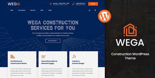 Wega – Construction WordPress Theme